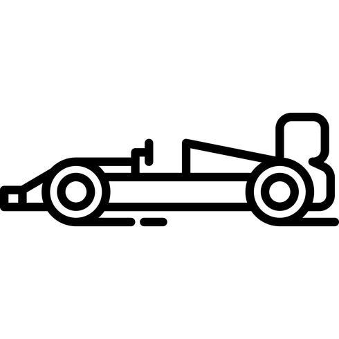 Formula1 raceauto pictogram Vector