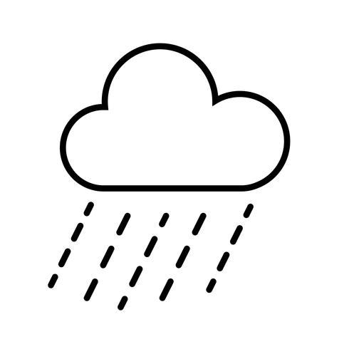 Wolk en regen pictogram Vector