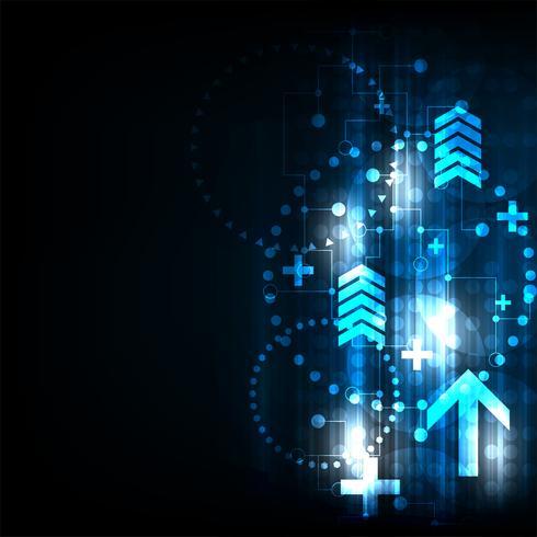 Snelheid van toekomstige communicatie. vector