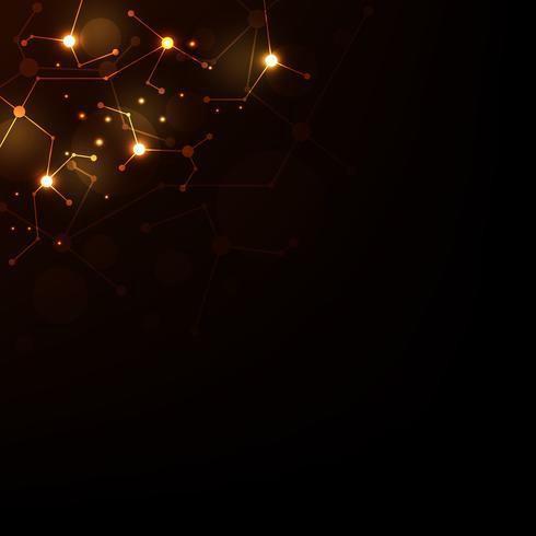 Vector technologie netwerkontwerp.