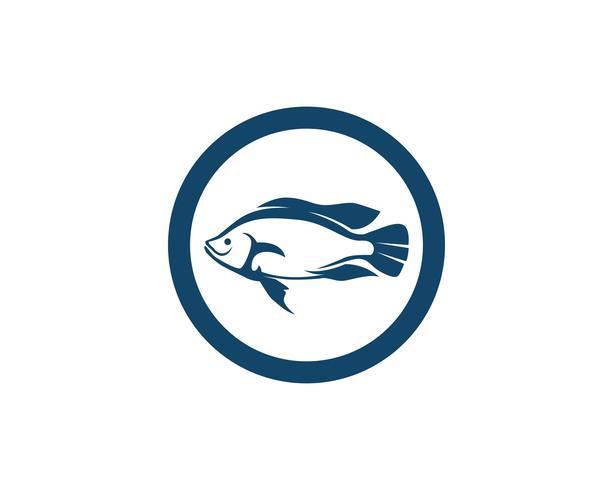 Vis logo sjabloon. Creatief vectorsymbool van visserijclub of online vector