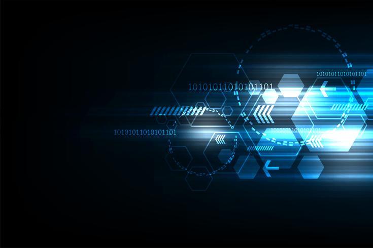 De snelheid van technologie in de vorm van geometrie. vector