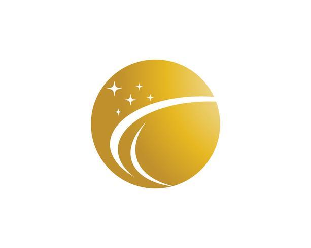 Ster logo vector en sjabloon pictogram