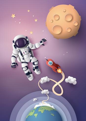 Astronaut Astronaut, papier gesneden vector