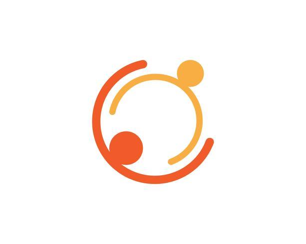 Gemeenschapsmensen geven logo- en symbolen-sjabloon vector