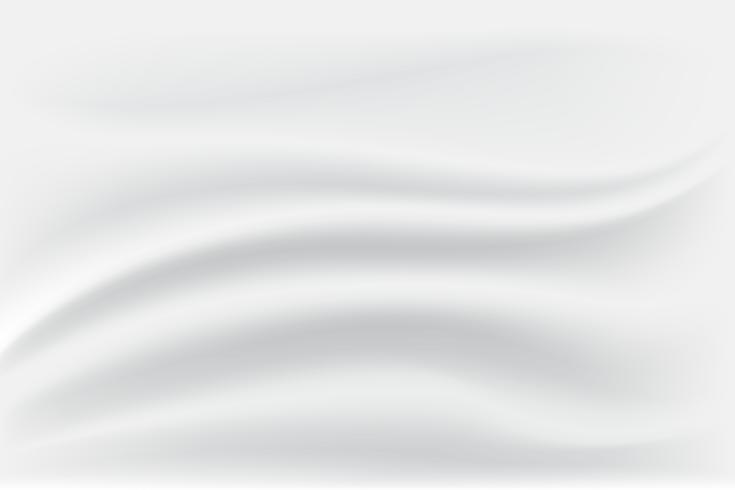 Witte en grijze satijnen zijde. Doek Stof Textiel met golvende plooien. Abstracte textuurachtergrond. Vouw stof. vector