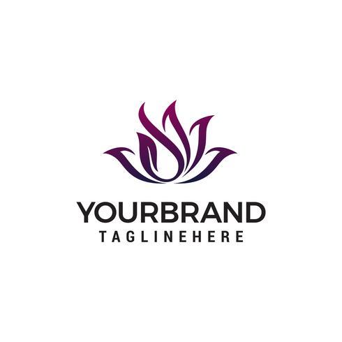 bloem logo ontwerp concept sjabloon vector