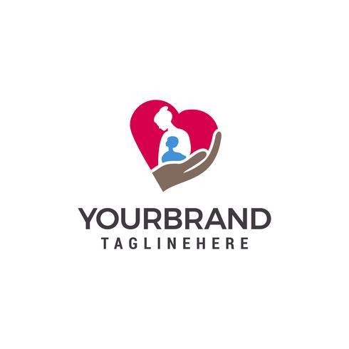 Moeder liefde logo, moeder en kind logo sjabloon ontwerpelementen vector