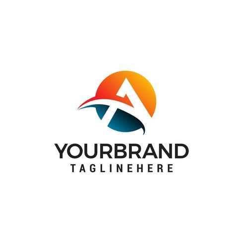 brief een logo vector