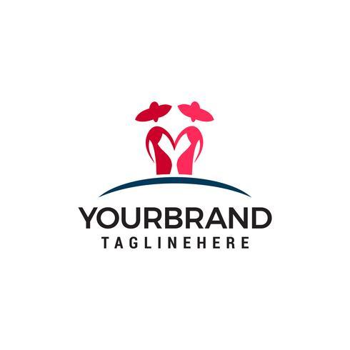 twee vrouwen logo ontwerp concept sjabloon vector