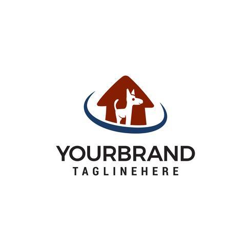 Dog House-logo. Dierlijke zorg logo vector ontwerpsjabloon