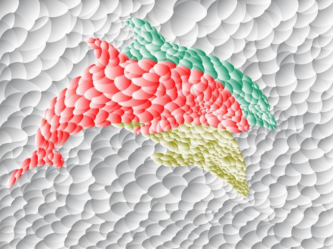 Dolphin polygoon art vector