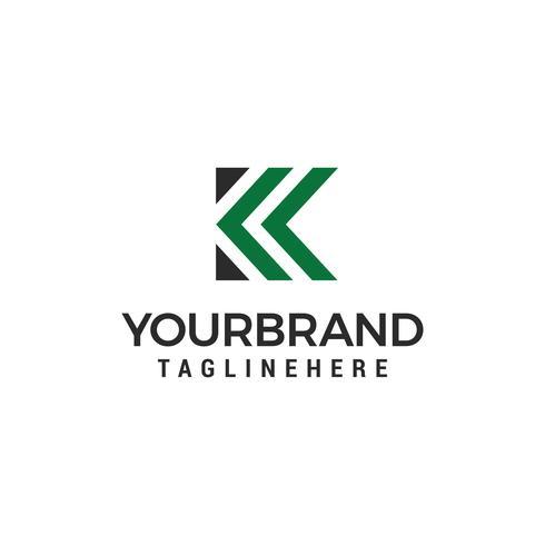 Letter K logo pictogram ontwerp sjabloon elementen vector