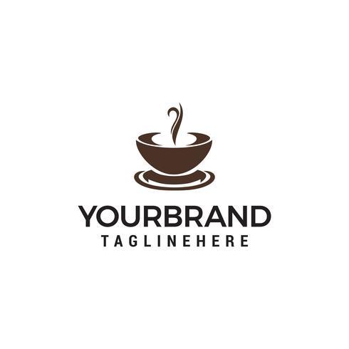 Koffie en thee beker ontwerpsjabloon vector