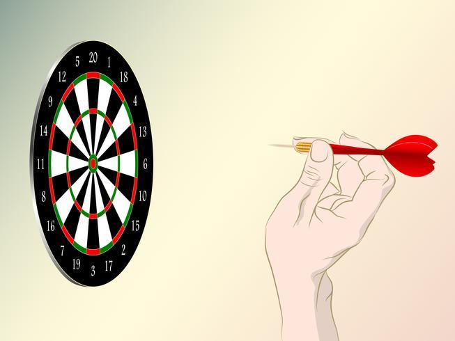 Dartbordspellen spelen vector