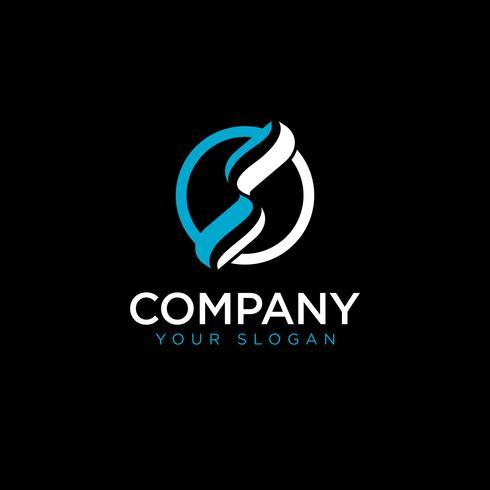 S eerste cirkel logo sjabloon vector