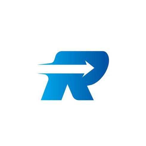 letter R met Arrow logo ontwerpsjabloon vector