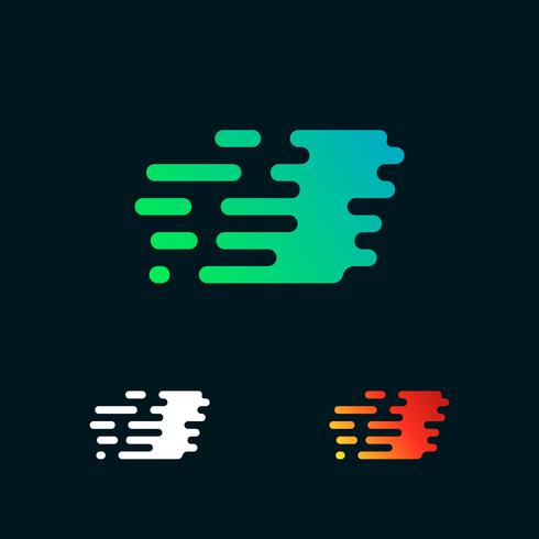 letter I moderne snelheid vormen logo ontwerp vector