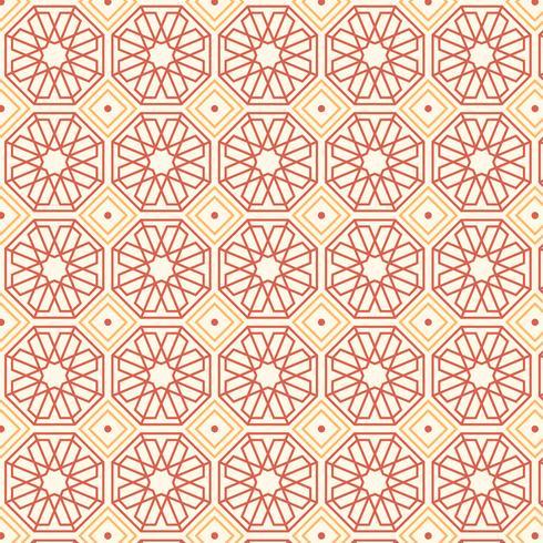 Retro geometrische patroon vector