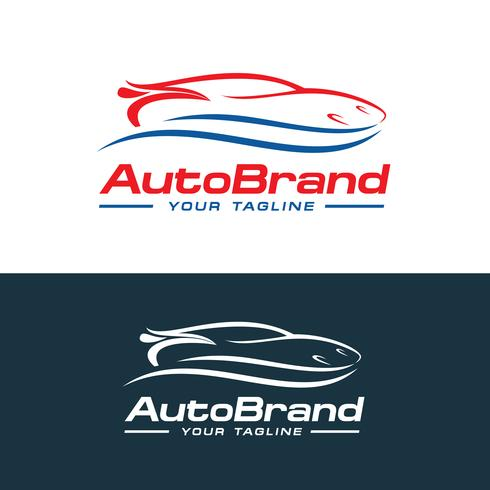 Auto logo vector, auto bedrijfslogo vector sjabloonontwerp