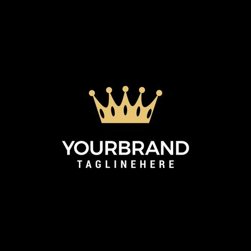 Creatieve Crown Concept Logo ontwerpsjabloon vector