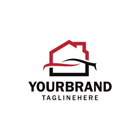 auto garage, werkplaats, auto, huis of huis garage, werkplaats logo vector