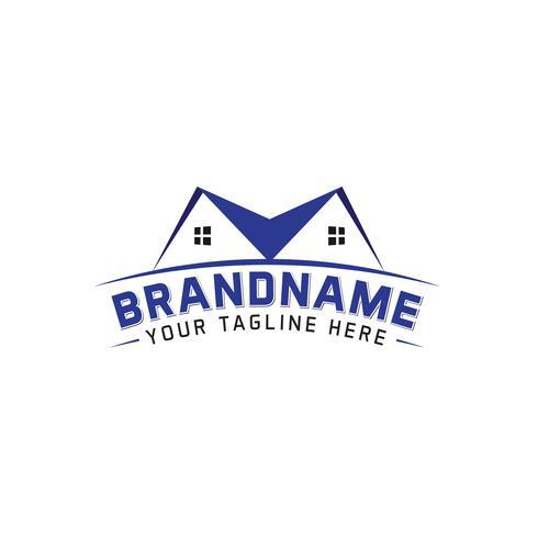 creatief minimaal onroerend goed logo ontwerpconcept vector