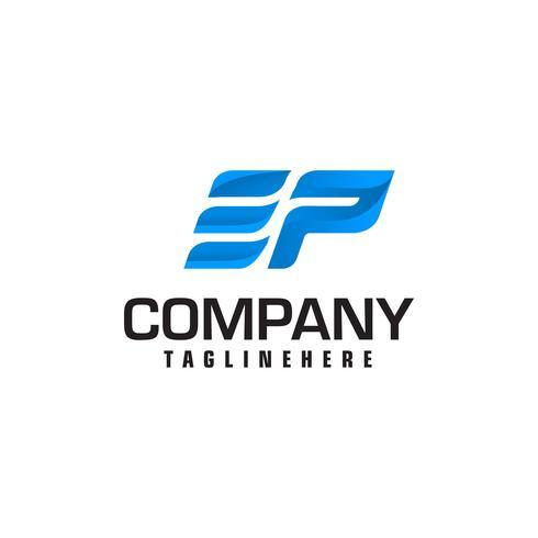letter e en p snelheid logo vector