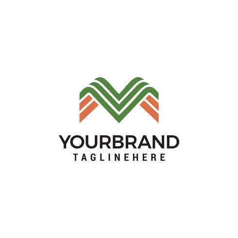 Letter M lijntekeningen monogram. Creatief logo-ontwerp vector