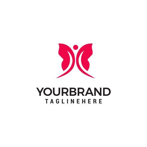 Eenvoudige moderne vlinder Logo sjabloon vector