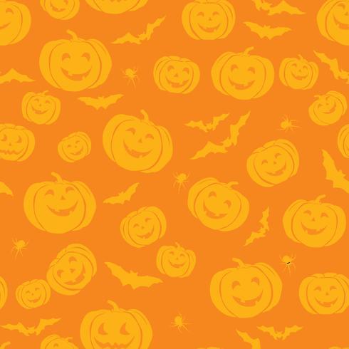 Happy Halloween naadloze patroon. Holiday party achtergrond met vector