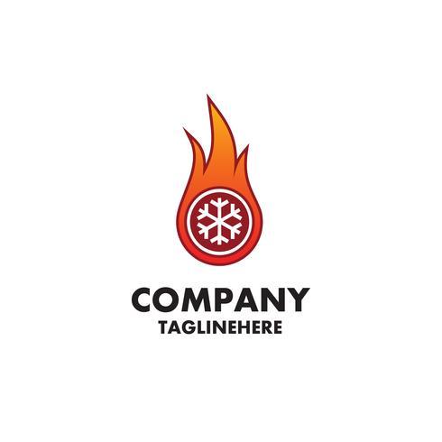 verwarming en koeling - logo-ontwerp vector