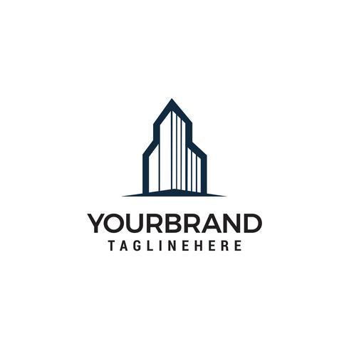 Gebouw stad logo sjabloonontwerp vector
