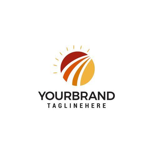 Zon opkomst Logo ontwerpsjabloon vector