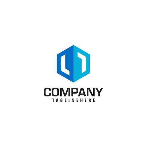 Onroerend goed Logo ontwerpsjabloon vector Hexagon vorm. Luxe Fas
