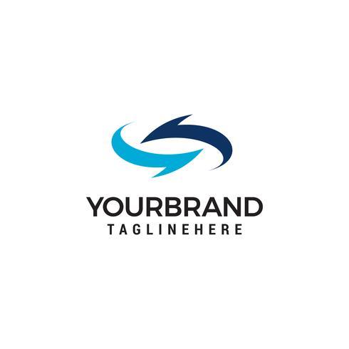 Pijlen draaien Logo ontwerpsjabloon vector