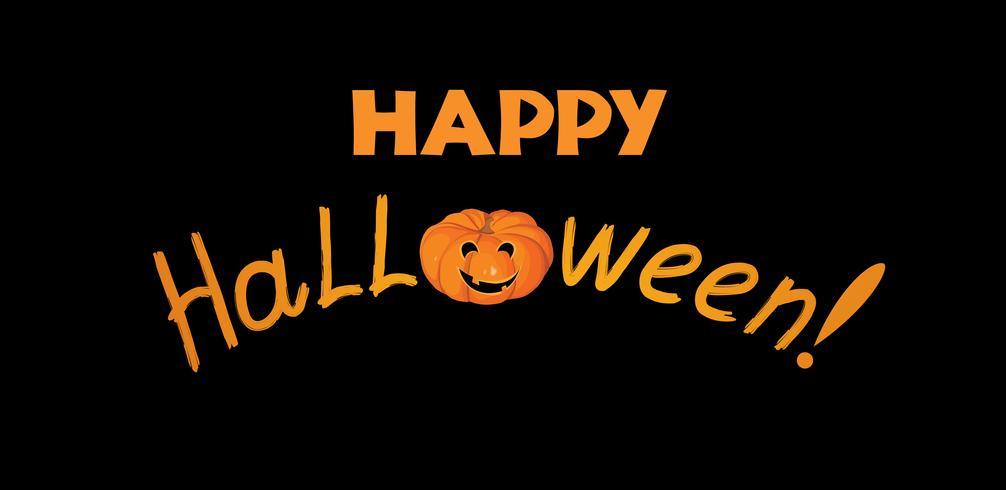 Gelukkige Halloween-groetkaart. Vakantie achtergrond met belettering vector