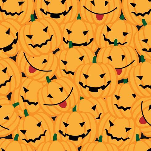 Halloween-achtergrond met pompoenen vector