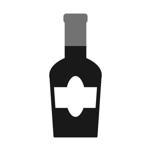 Vector wijnfles pictogram