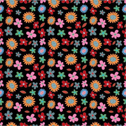 bloem lente naadloze patroon achtergrond vector