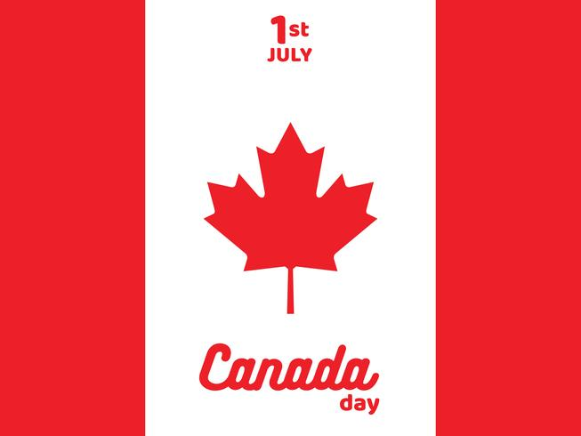 Affiche van de Gelukkige Dag van Canada met Vlag Vectorontwerp vector