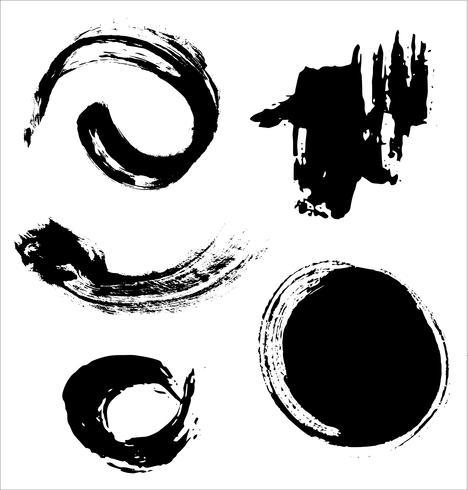 Penseelstreken hand getrokken vectorillustratie - Vector