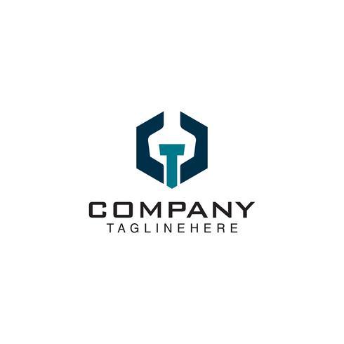 mechanisch logo. moersleutel bout logo vector