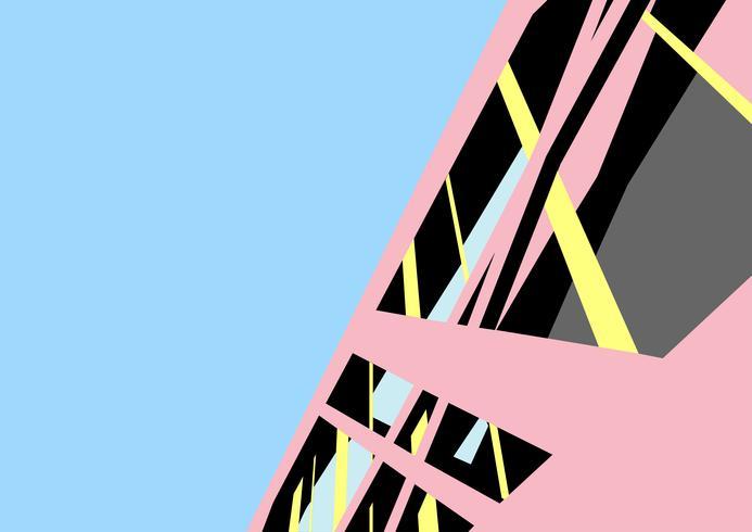 Moderne architectuur gebouw vector