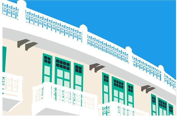 Ouderwetse gebouw vector