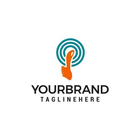 Duim omhoog Logo ontwerp vector sjabloon