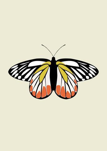 Vlinder pictogram Vector