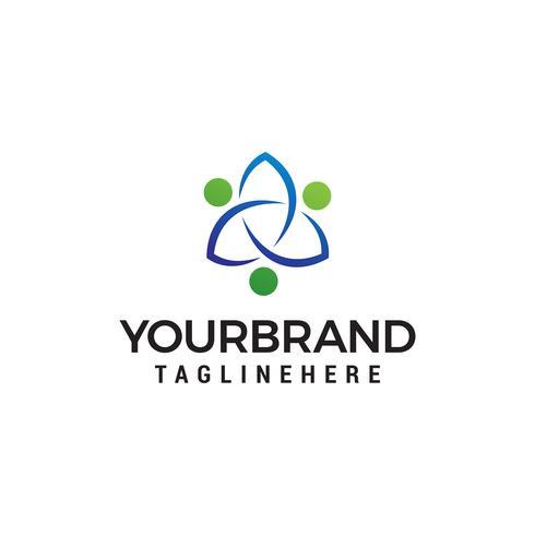 Mensen gemeenschap logo ontwerp concept sjabloon vector