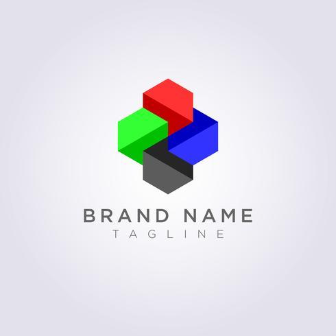 Ontwerp Geometrie Abstract Logo Pictogrammen voor u om te gebruiken vector