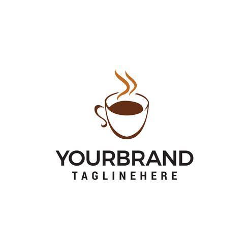 koffie en thee glas logo ontwerp concept sjabloon vector